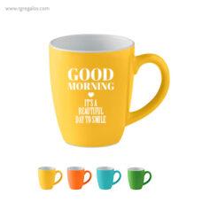 Taza cerámica colores 300 ml - RG regalos publicitarios
