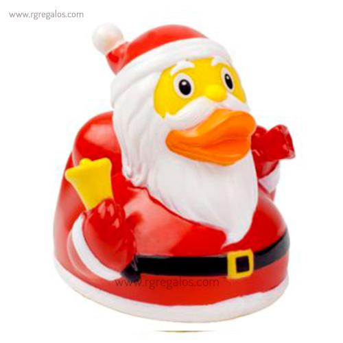 Patito de goma Santa Claus perfil - RG regalos publicitarios