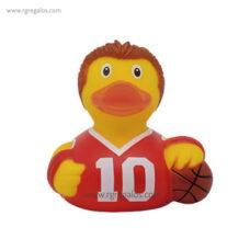 Patito de goma basquetbolista- RG regalos publicitarios