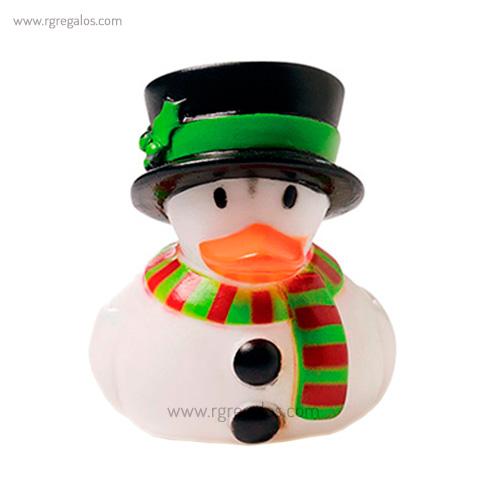 Patito de goma muñeco de nieve - RG regalos publicitarios