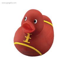 Patito de goma pelota rugby - RG regalos publicitarios