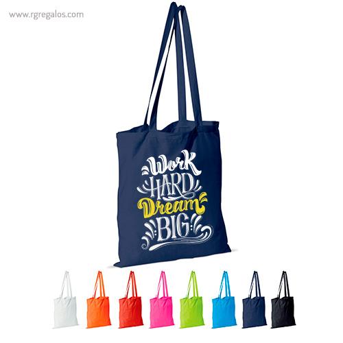 Bolsa 100% algodón colores - RG regalos publicitarios