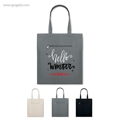 Bolsa con bolsillo exterior - RG regalos publicitarios