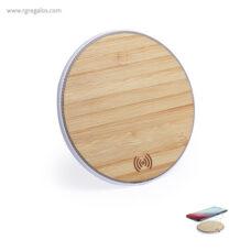 Cargador inalámbrico de bambú - RG regalos de empresa