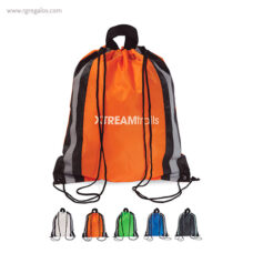 Mochila saco laterales reflectantes - RG regalos publicitarios