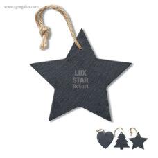 Colgante de pizarra estrella presentación - RG regalos publicitarios
