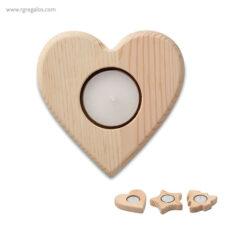 Portavela navidad de madera - RG regalos publicitarios