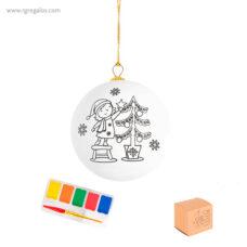 Bola navidad para pintar - RG regalos publicitarios