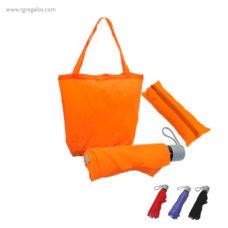 Paraguas plegable con funda bolsa - RG regalos publicitarios