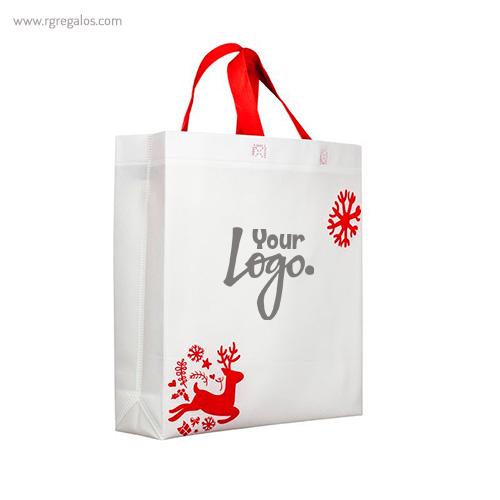 Bolsa navidad Rudolph logotipo - RG regalos publicitarios