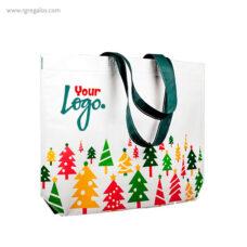 Bolsa navidad avetos colores con logotipo - RG regalos publicitarios