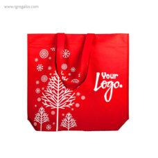 Bolsa navidad roja con logotipo - RG regalos publicitarios