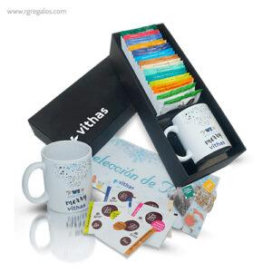 Caja selección tés personalizada - RG regalos publicitarios