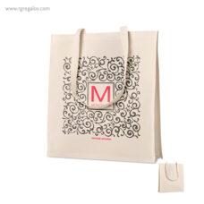 Bolsa 100% algodón con fuelle - RG regalos publicitarios