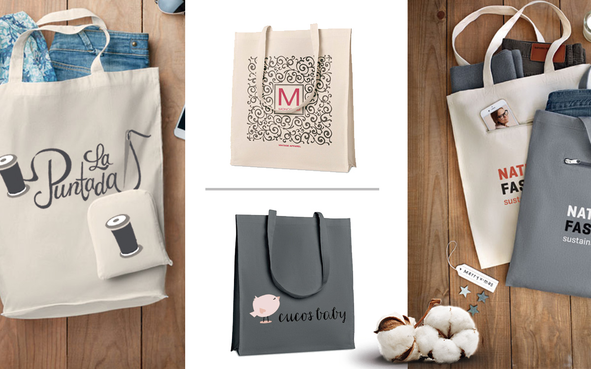 Bolsas algodón personalizadas - RG regalos publicitarios