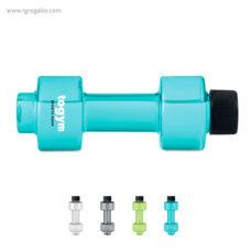 Botella de agua mancuerna transparente - RG regalos publicitarios