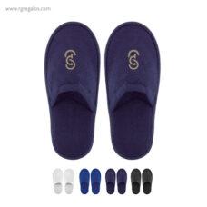 Zapatillas rizo unisexmarino - RG regalos publicitarios