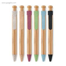 Bolígrafo cuerpo de bambú - RG regalos publicitarios