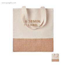 Bolsa combinación yute y algodón - RG regalos publicitarios