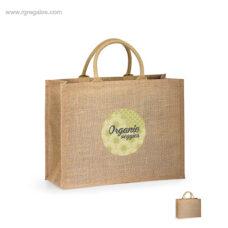 Bolsa de yute interior plastificado logo - RG regalos personalizados