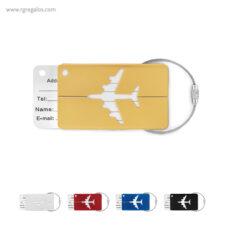Identificador de maleta en aluminio - RG regalos publicitarios
