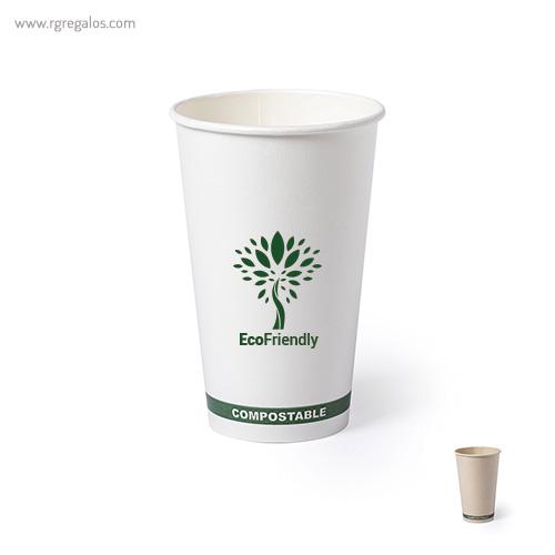 Vaso papel PLA 100% compostable - RG regalos publicitarios