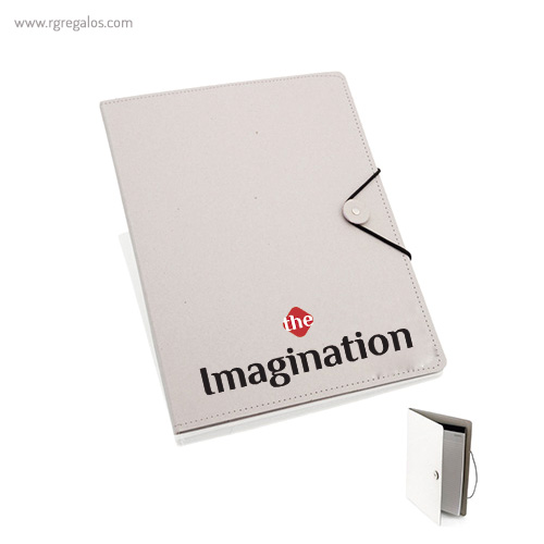Carpeta en cartón con bloc interior - RG regalos publicitarios