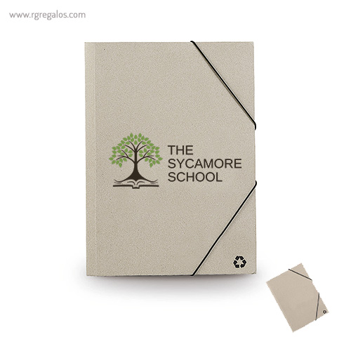 Carpeta en cartón reciclado - RG regalos publicitarios