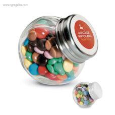 Bote de cristal con chocolate - RG regalos publicitarios