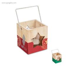 Portavela de madera Navidad - RG regalos