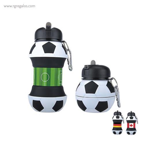 Botella plegable pelota de fútbol banderas - RG regalos publicitarios