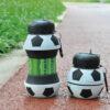 Botella plegable pelota de fútbol silicona - RG regalos promocionales