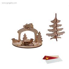 Tarjeta Navidad con puzzle sobre - RG regalos publiciatarios