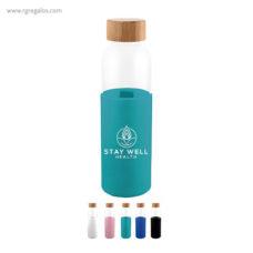 Botella de vidrio con funda de silicona - RG regalos publicitarios