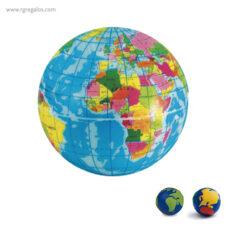Bola del mundo antiestrés - RG regalos personalizados