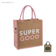 Bolsa de yute lateral y asas color - RG regalos publicitarios
