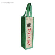 Bolsa de yute para botella lateral 2- RG regalos publicitarios