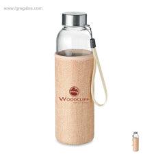 Botella de cristal con funda de yute - RG regalos personalizados