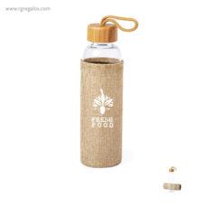 Botella con funda de yute 500 ml - RG regalos publicitarios