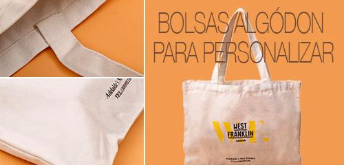 Bolsas algodón para personalizar - RG regalos promocionales