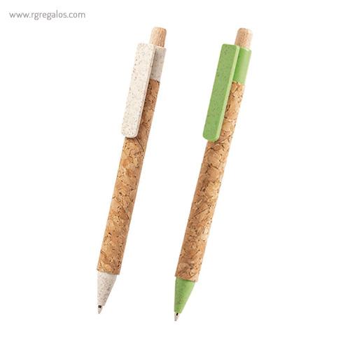 Bolígrafo en corcho natural blanco - RG regalos personalizados