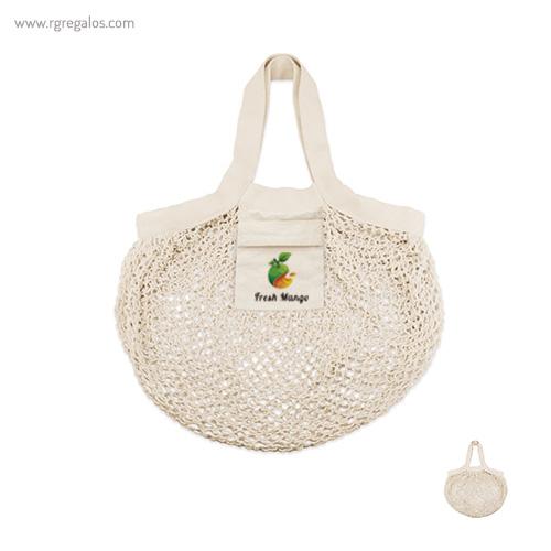 Bolsa algodón malla compra - RG regalos publicitarios