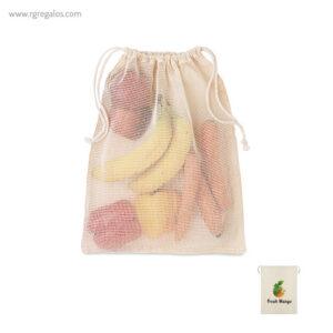 Bolsa rejilla algodón para comida - RG regalos publicitarios