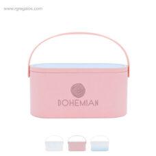 Caja maquillaje espejo luz 1 blanca - RG regalos promocionales