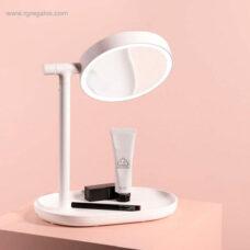 Espejo luz maquillaje abatible blanco - RG regalos publicitarios