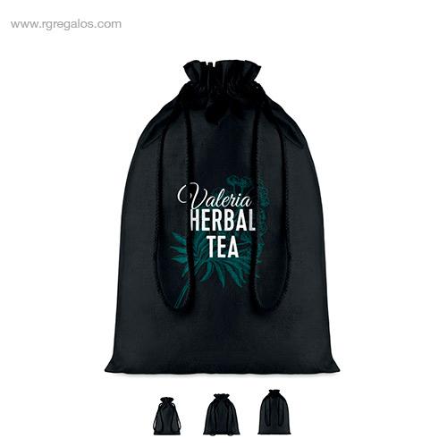 Bolsa algodón negra para regalo - RG regalos
