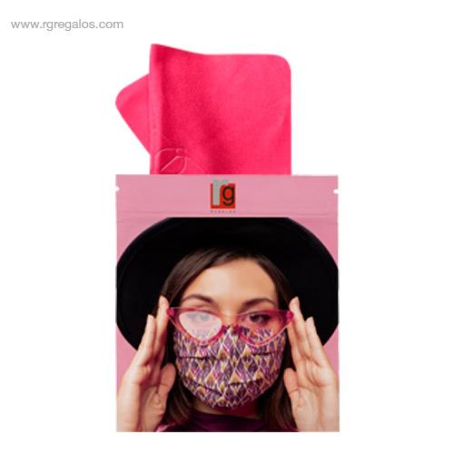 Gamuza antivaho personalizada rosa - RG regalos publicitarios