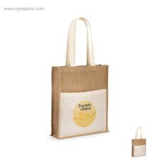 Bolsa de yute con bolsillo logo - RG regalos personalizados
